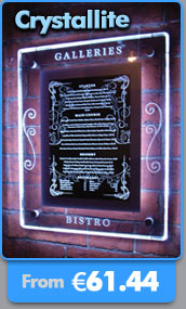 Wall menu displays